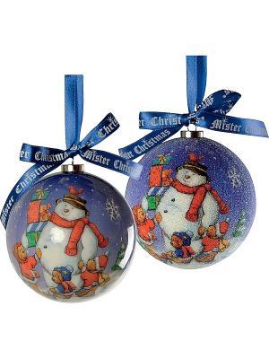 Елочная игрушка - 6 шт. Mister Christmas. Цвет: фиолетовый