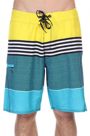 Шорты пляжные  Mirage Process 21 Boardshort Yellow Rip Curl. Цвет: желтый,голубой