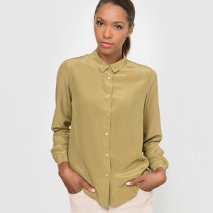 Рубашка 100% шелка R essentiel. Цвет: охра