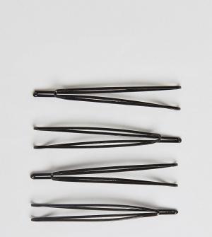 ASOS Набор из 4 заколок для волос. Цвет: черный
