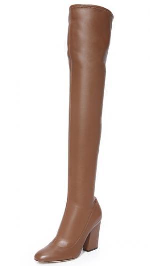 Высокие сапоги Sergio Rossi. Цвет: коричневый