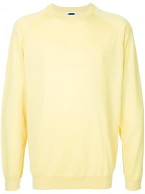 Кашемировый классический свитер H Beauty&Youth. Цвет: жёлтый и оранжевый