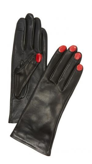 Перчатки Elsa, удобные для использования смартфонов Agnelle. Цвет: черный/красный
