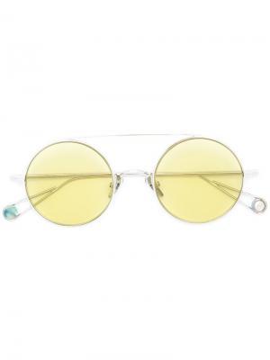 Солнцезащитные очки в круглой оправе Ahlem. Цвет: металлический