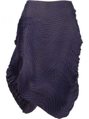 Асимметричная юбка Issey Miyake. Цвет: розовый и фиолетовый