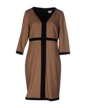 Короткое платье CALALUNA. Цвет: верблюжий