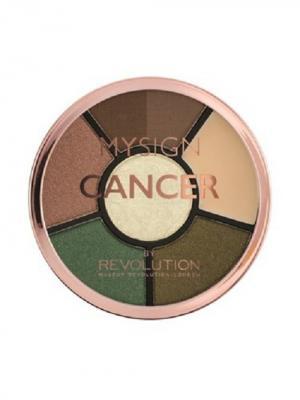 Палетка для макияжа глаз Complete Eye Base Cancer MakeUp Revolution. Цвет: зеленый, персиковый, темно-коричневый