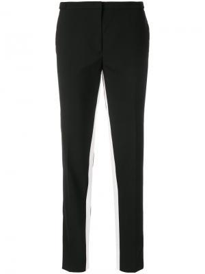 Contrast-stripe tailored trousers Prada. Цвет: чёрный