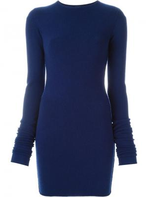 Облегающее платье NO5 Extreme Cashmere. Цвет: синий