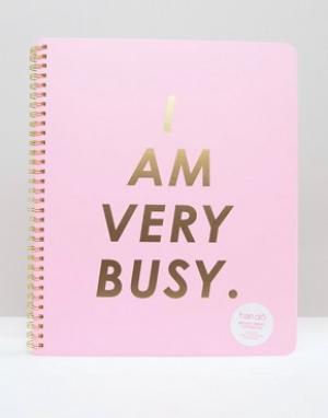 BAN DO Большой блокнот с принтом I Am Busy Ban.Do. Цвет: мульти
