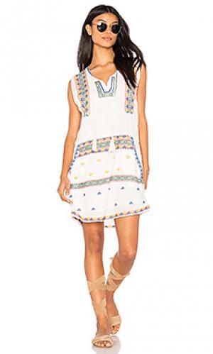 Мини платье merianne Tolani. Цвет: белый