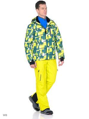Куртка High Experience. Цвет: светло-зеленый, светло-желтый