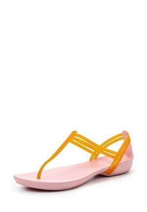 Сандалии Crocs. Цвет: оранжевый