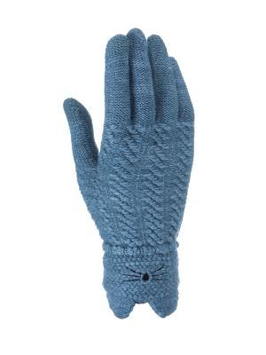 Перчатки для девочки Cascatto. Цвет: серо-зеленый