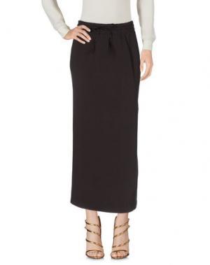 Длинная юбка EUROPEAN CULTURE. Цвет: темно-коричневый