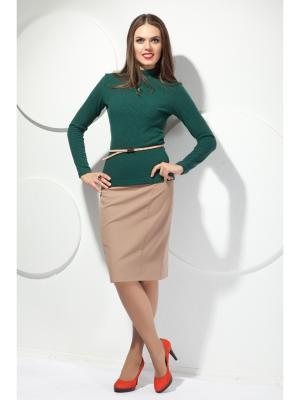 Блузка Modellos. Цвет: темно-зеленый