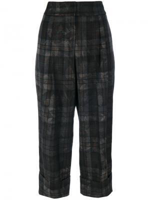 Укороченные широкие брюки Antonio Marras. Цвет: серый