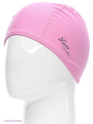 Шапочка плавательная Larsen. Цвет: розовый