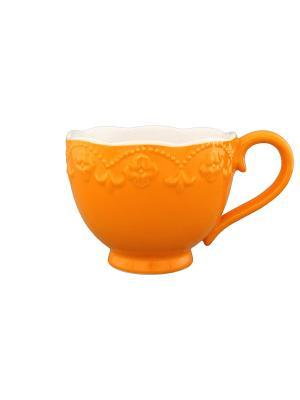 Кружка Оранжевая с узором Elan Gallery. Цвет: оранжевый