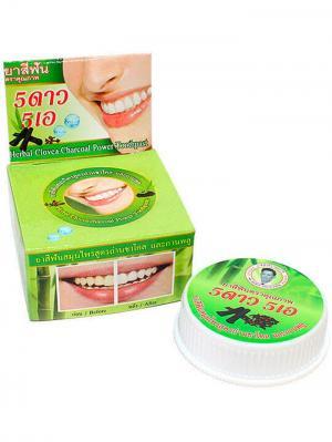 Травяная отбеливающая зубная паста с углем Бамбука 5 STAR COSMETIC. Цвет: светло-зеленый