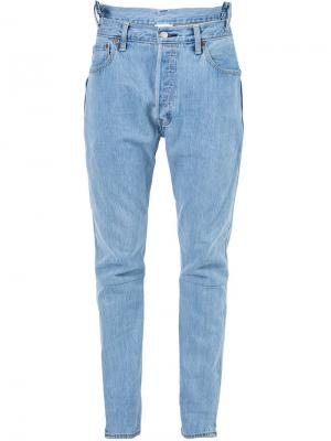 Выбеленные джинсы Vetements. Цвет: синий