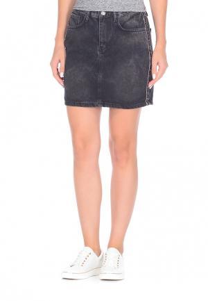 Юбка джинсовая DSHE. Цвет: серый