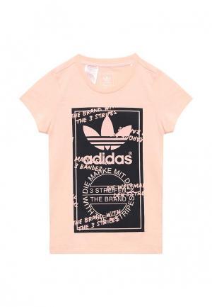 Футболка adidas Originals. Цвет: розовый