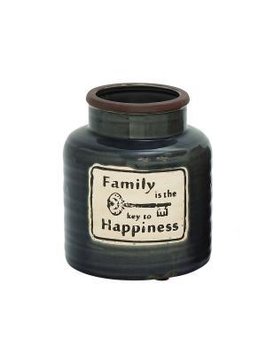 Дизайнерская банка Семья-ключ к счастью, 19см UMA. Цвет: темно-синий, коричневый