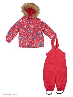Комплект(куртка, полукомбинезон) Cherubino. Цвет: розовый
