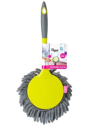 Щетка для пыли с ручкой RENGO VIGAR. Цвет: желтый (желтый, серый)