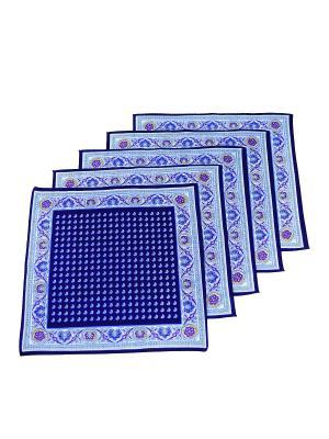 Платок, 10 шт Римейн. Цвет: синий