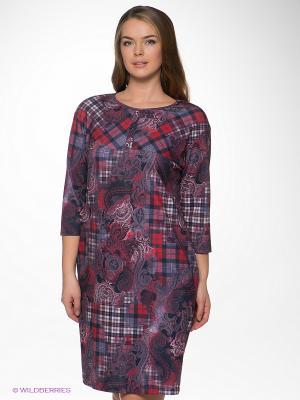 Платье Forus. Цвет: красный, серый, бордовый