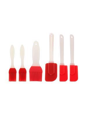 Набор кисточек и лопаток Elan Gallery. Цвет: красный