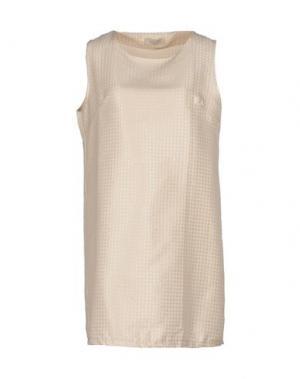 Короткое платье LOU LONDON. Цвет: бежевый