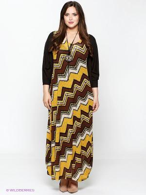 Комплект Amelia Lux. Цвет: коричневый, желтый