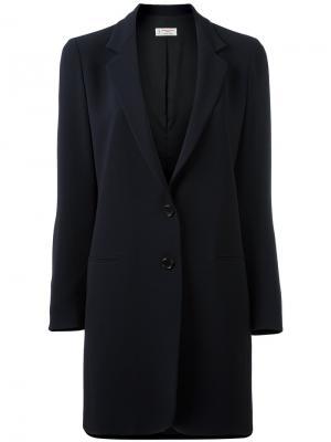 Пальто с лацканами Alberto Biani. Цвет: синий
