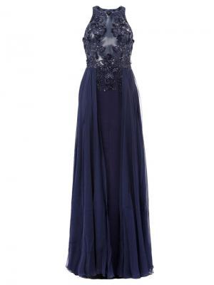 Декорированное платье Zuhair Murad. Цвет: синий