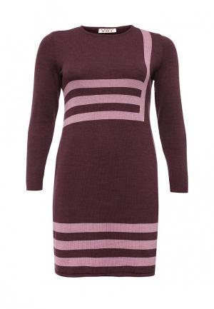 Платье Vay. Цвет: бордовый