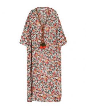 Платье длиной 3/4 CHRISTOPHE SAUVAT. Цвет: красный