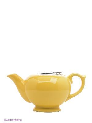 Завар/чайник 1,2л КЕРАМИКА ЖЕЛТЫЙ LORAINE. Цвет: желтый