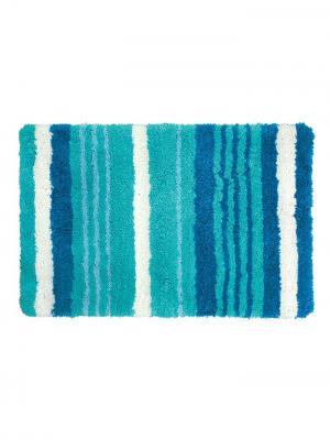 Коврик для ванной IDDIS. Цвет: белый, бирюзовый, синий