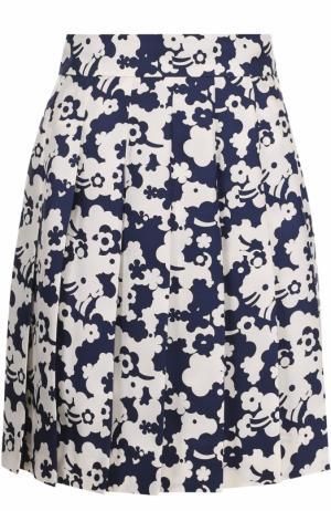 Шелковая плиссированная юбка с принтом Marc Jacobs. Цвет: разноцветный
