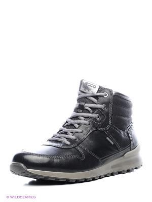 Ботинки ECCO. Цвет: черный, серебристый
