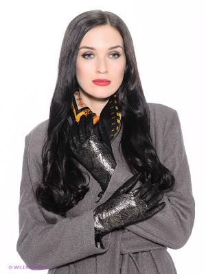 Перчатки Eleganse. Цвет: черный, золотистый