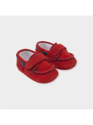 Туфли-мокасины Tutto Piccolo. Цвет: красный