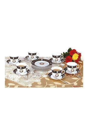 Чайный набор фарфор/нерж. 24 предмета Zillinger. Цвет: белый, черный