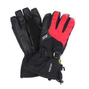 Перчатки сноубордические  Long Glove Red Pow. Цвет: черный,красный