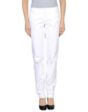 Повседневные брюки WEBER. Цвет: белый