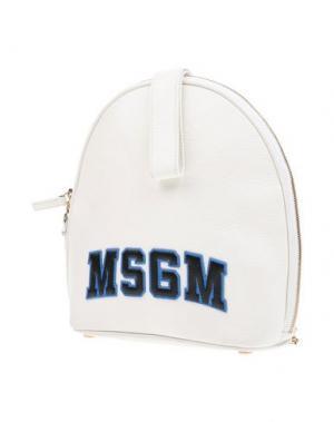 Рюкзаки и сумки на пояс MSGM. Цвет: белый