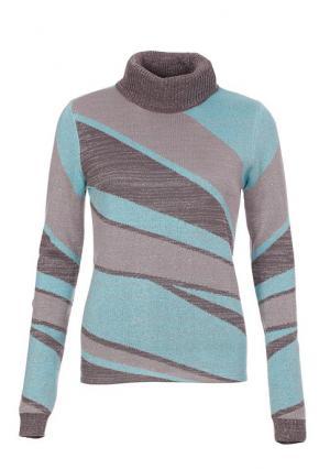 Пуловер MY STYLE. Цвет: серый/аква